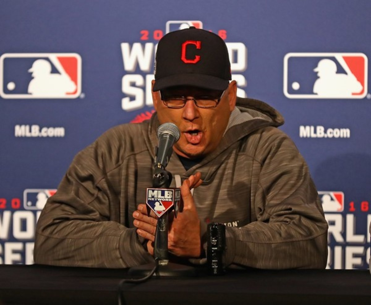 Terry Francona Addresses The Media During The 2016 World Series.