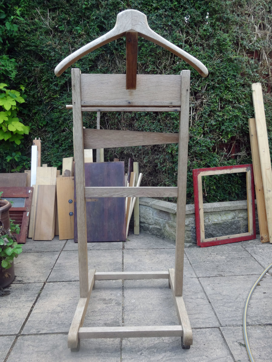 The original solid oak valet stand