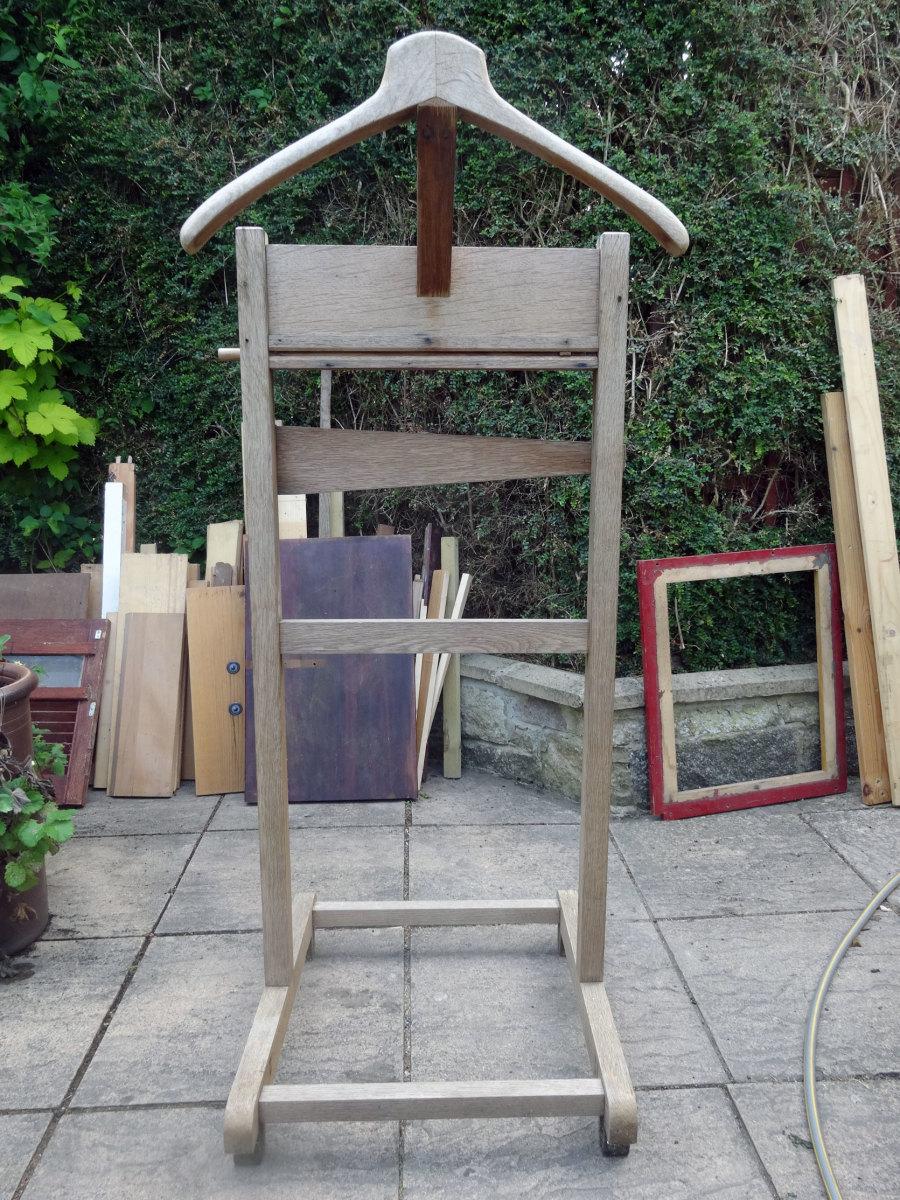 The original solid oak valet stand