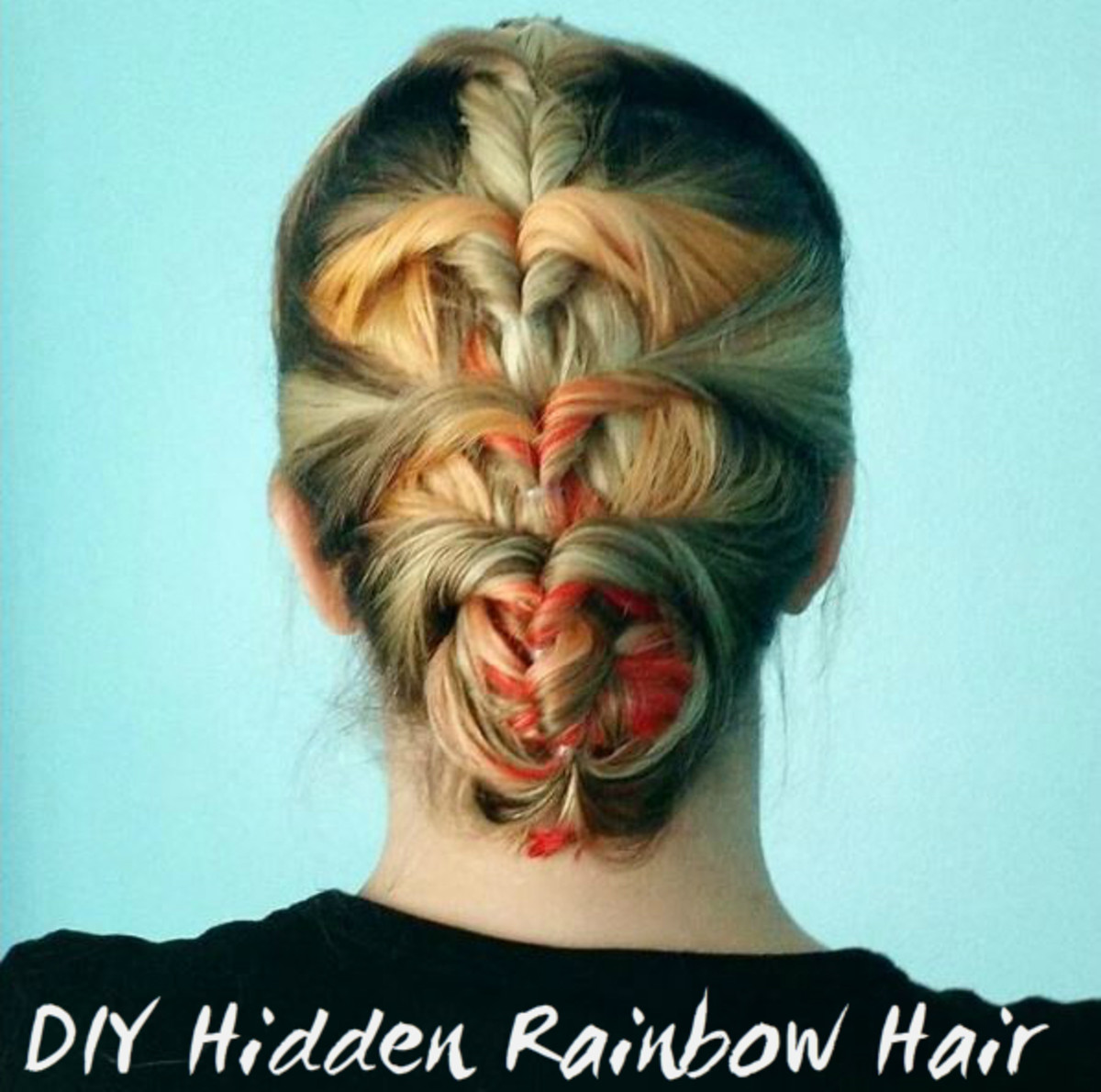 Give yourself hidden rainbow hair at home.