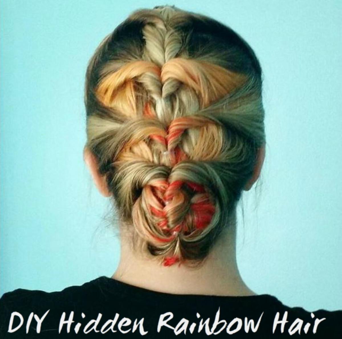 Hair Diy How To Do Hidden Rainbow Hair Bellatory