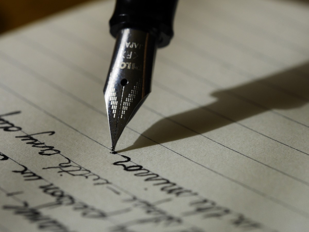 Splurging on a fine fountain pen is a fun way to treat yourself after completing a writing project.