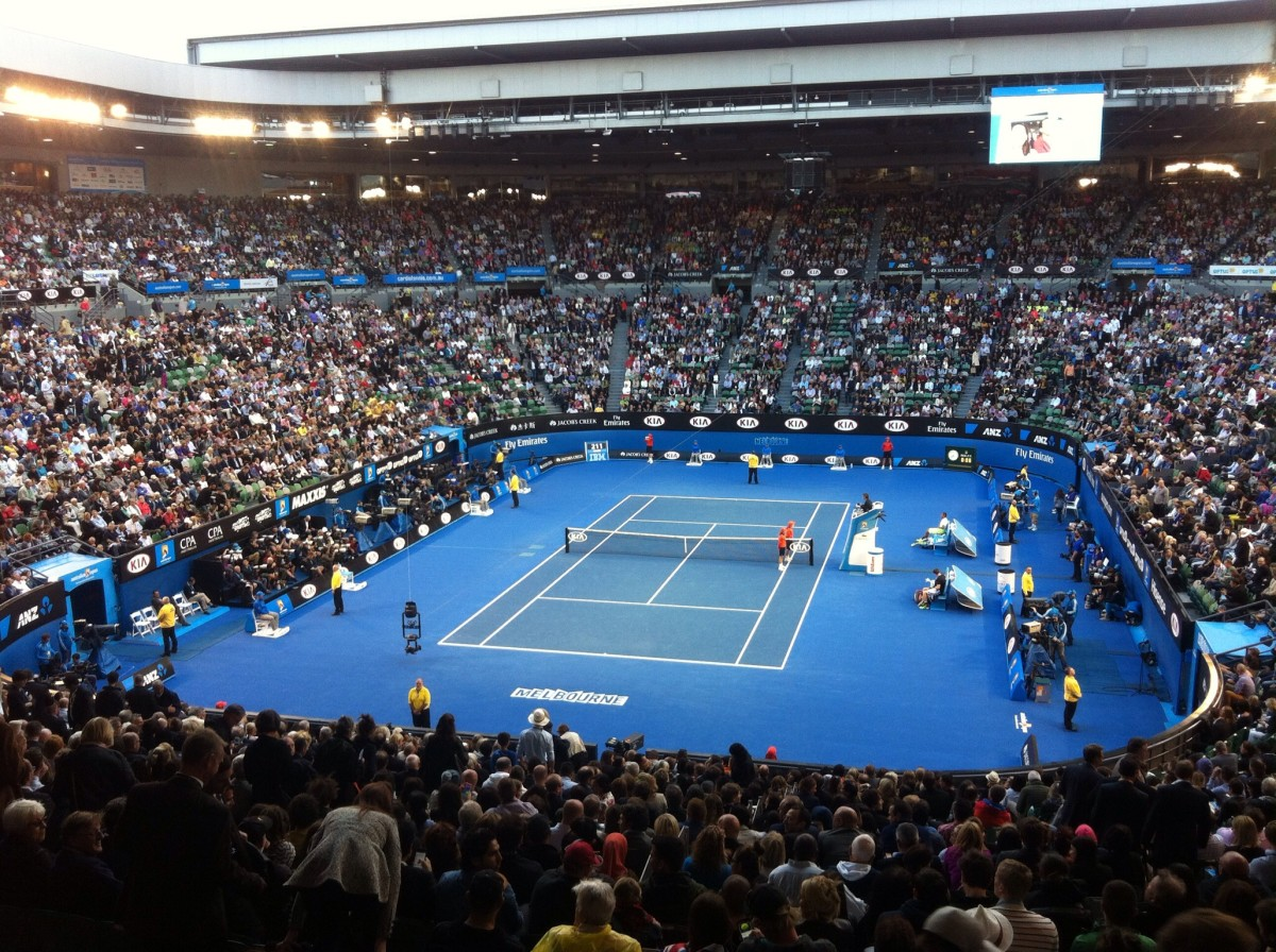 The Rod Laver Arena—formerly known as Centre Court—is the centrepiece of Melbourne Park.