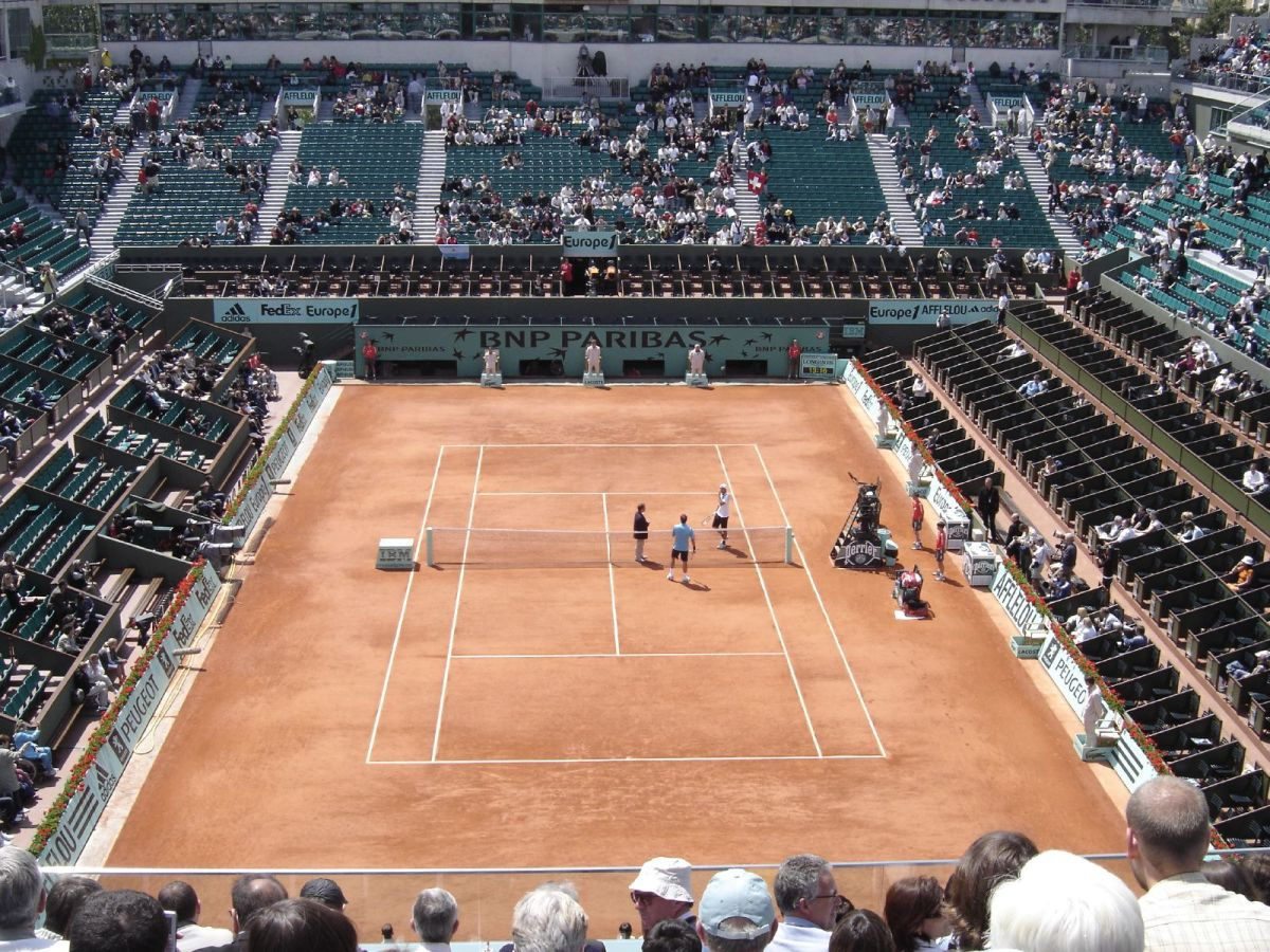 The Philippe Chatrier court at Roland Garros—the main court where the higher profile matches are played.