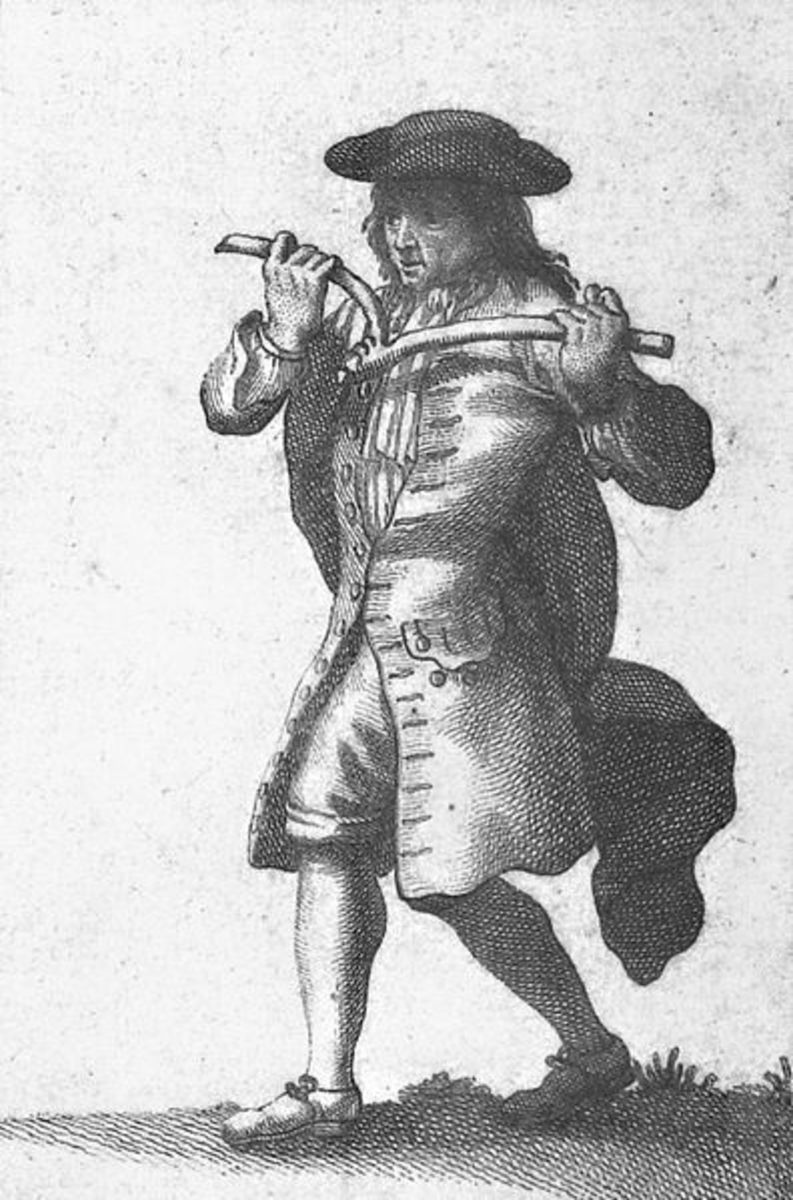 An 18th century dowser practicing his craft.