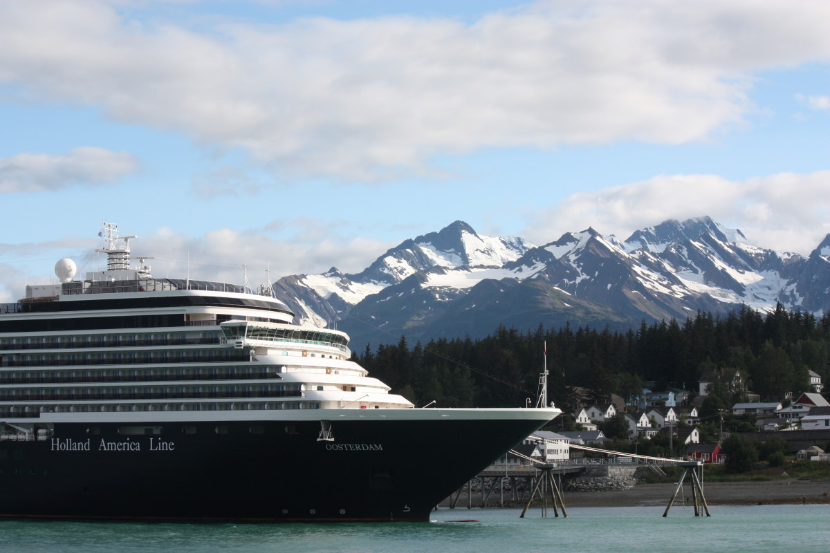 Our ship in Haines, Alaska