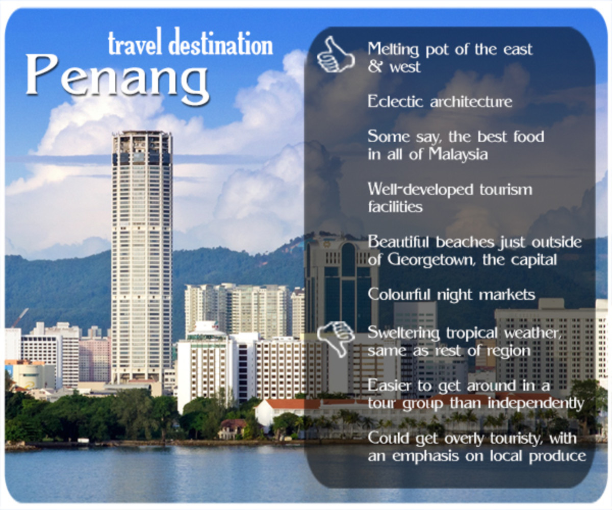 """Penang rightly deserves its nickname of """"Pearl of the Orient."""" The former Straits Settlements colony has everything an idyllic tropical vacation would need."""