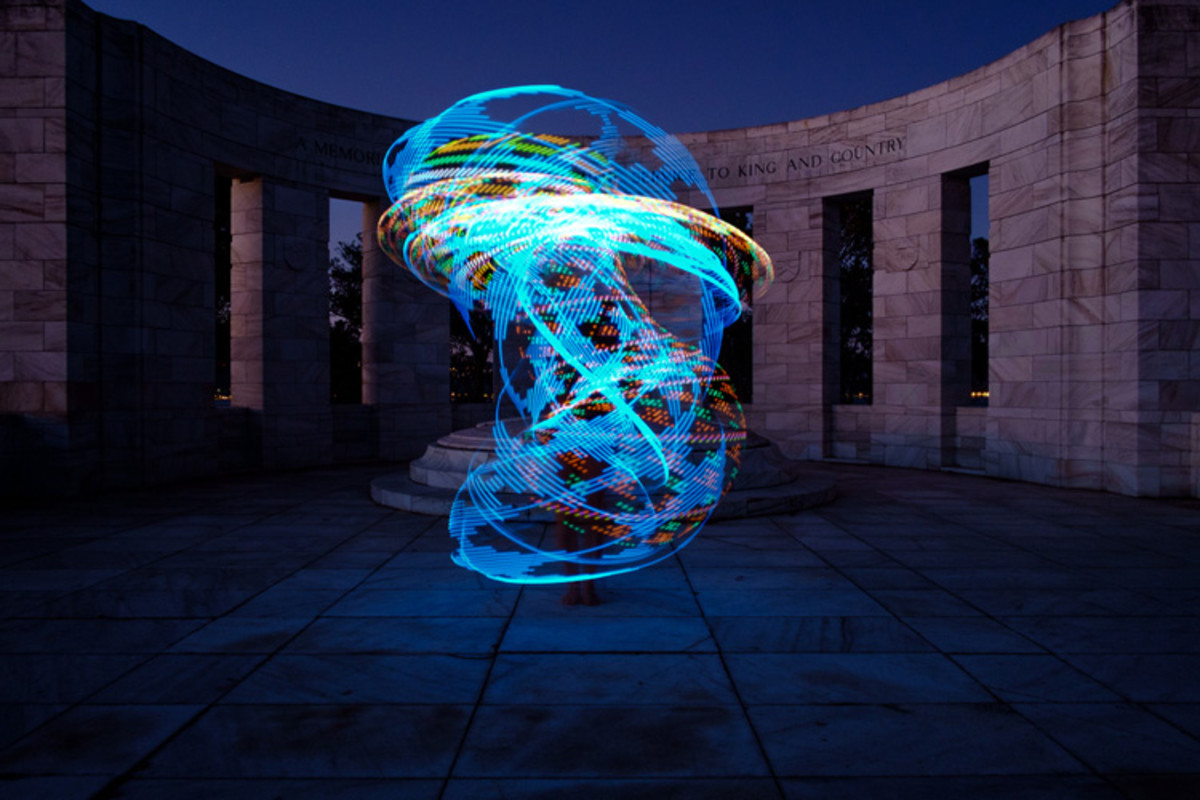 Light Painting With An Illuminated Hoop