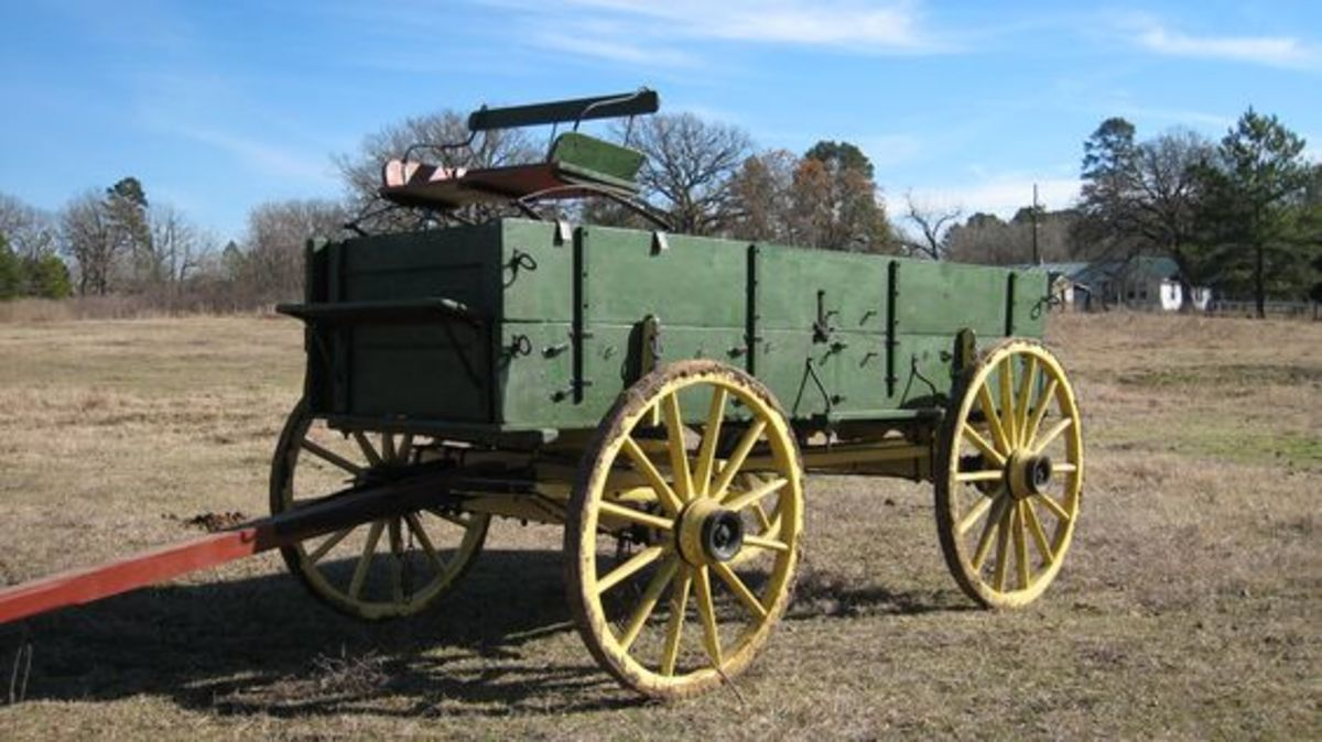 A wagon of the 1880s
