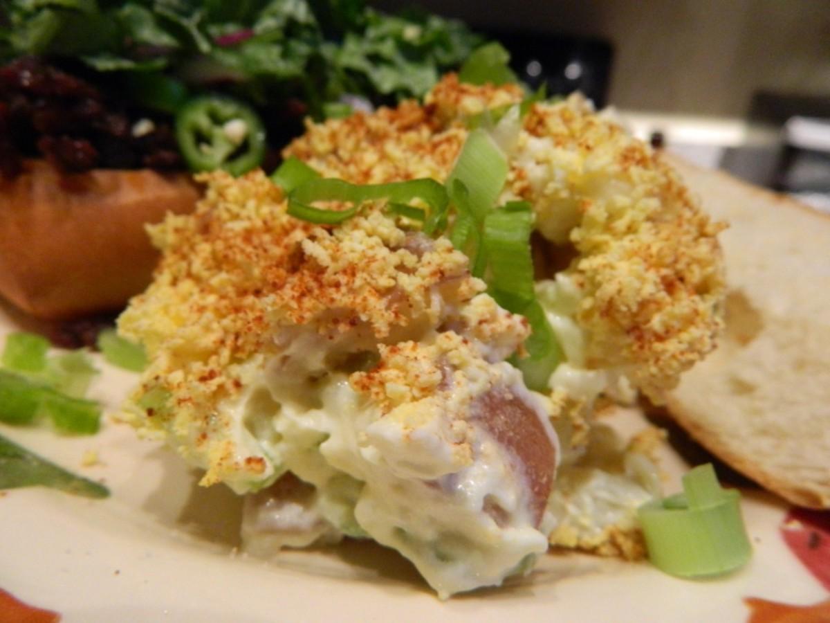 Egg Yolk Topped Potato Salad