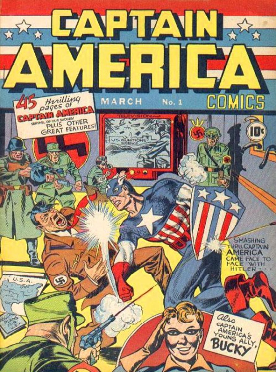 The cover of the first Captain America comic