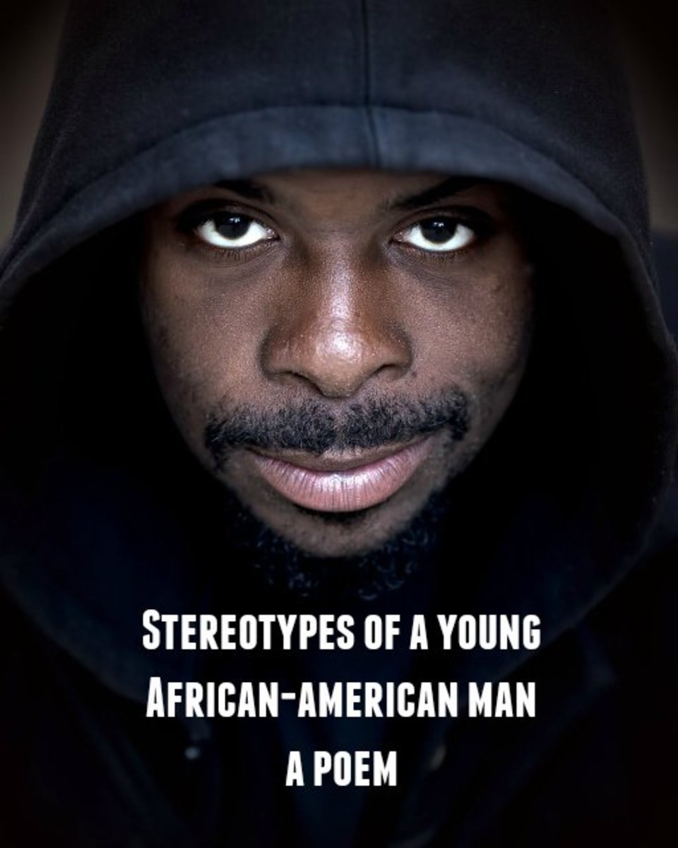 A black male wearing a hoodie conjures up a myriad of stereotypes about who he is and how he is perceived through the eyes of others.