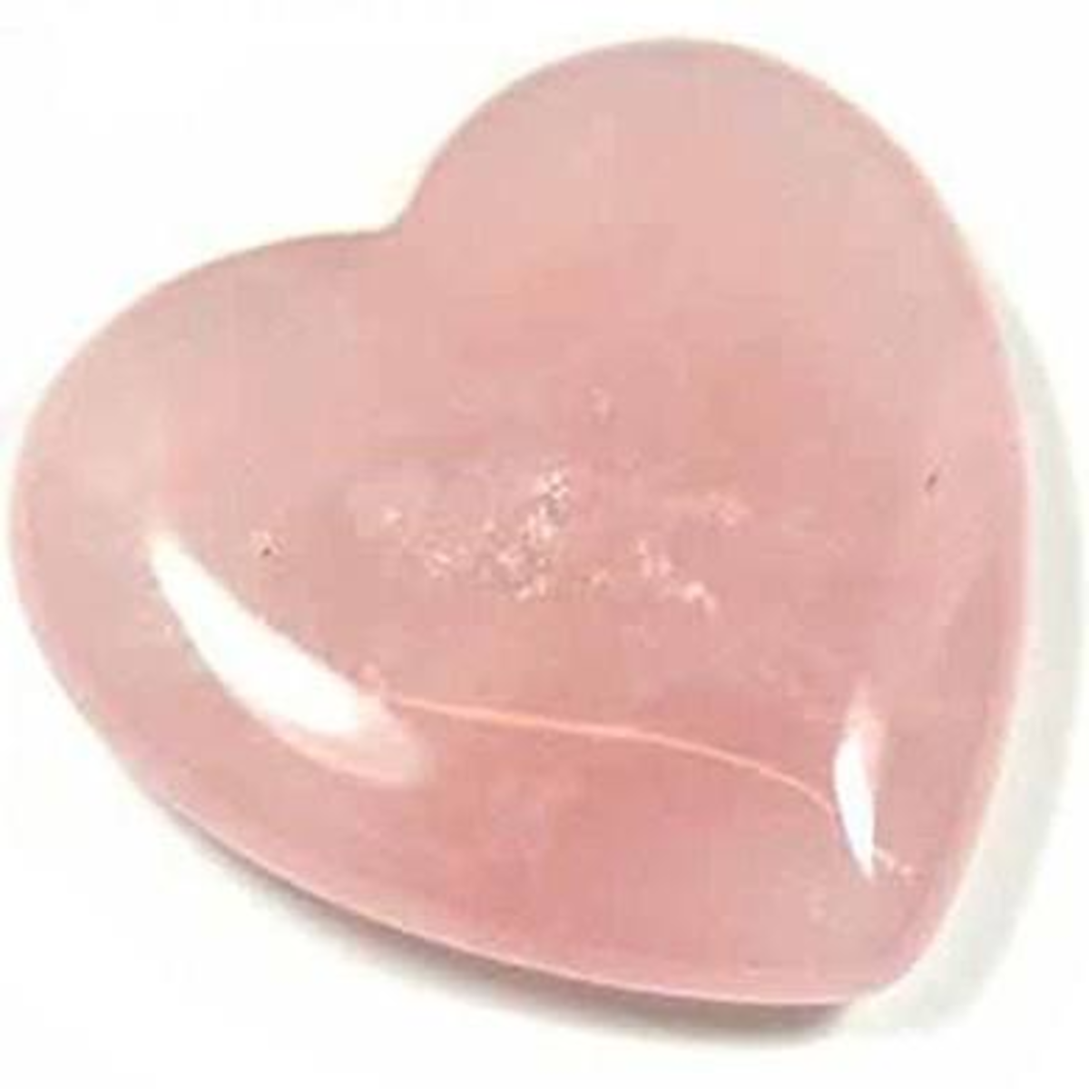 Rose quartz often is cut into a heart shape as it brings love into our lives, or keeps our hearts open to healing in hard times.