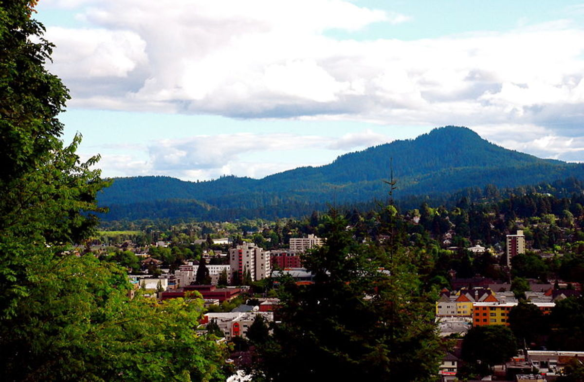 View of Eugene and Spencer Butte