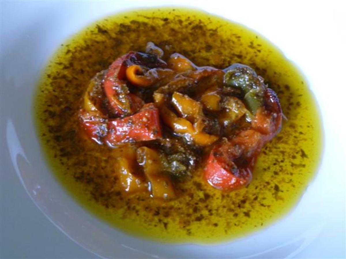 Grilled Peppers with Pesto and Pernod
