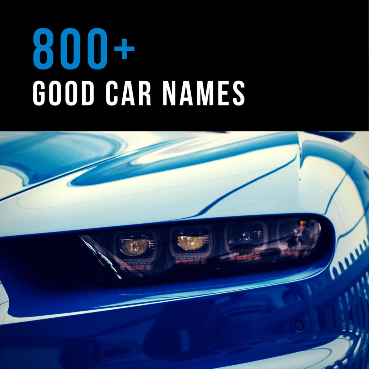 800+ Good Car Names