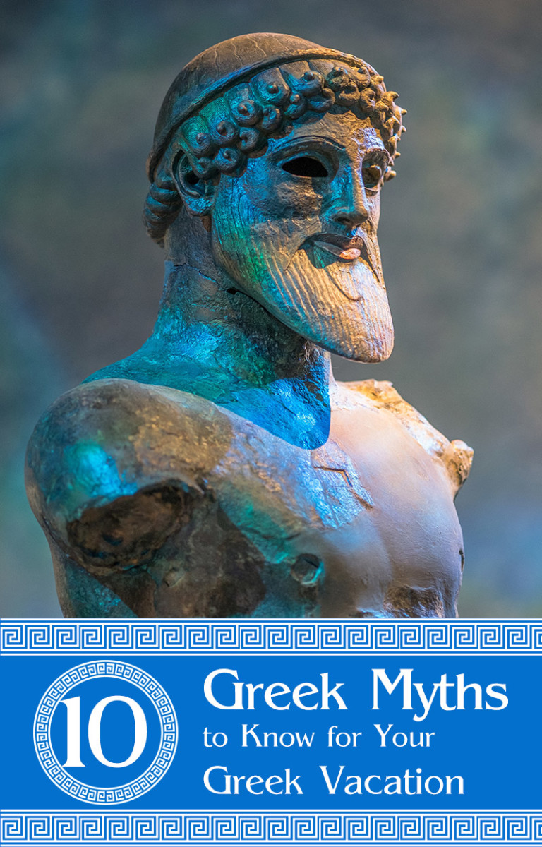 Top 10 Greek myths to know for a wonderful Greek vacation.