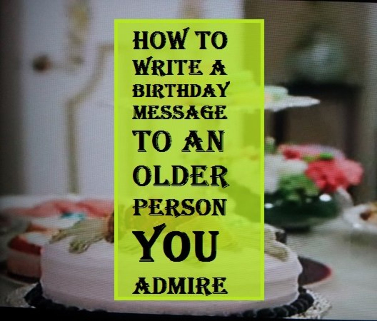 write about the person you admire