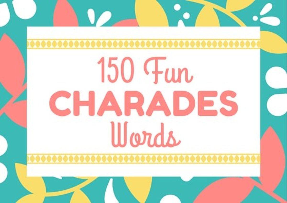 150 fun charades words and 5 variations that spice up the game 150 fun charades words and 5 variations that spice up the game hobbylark publicscrutiny Choice Image