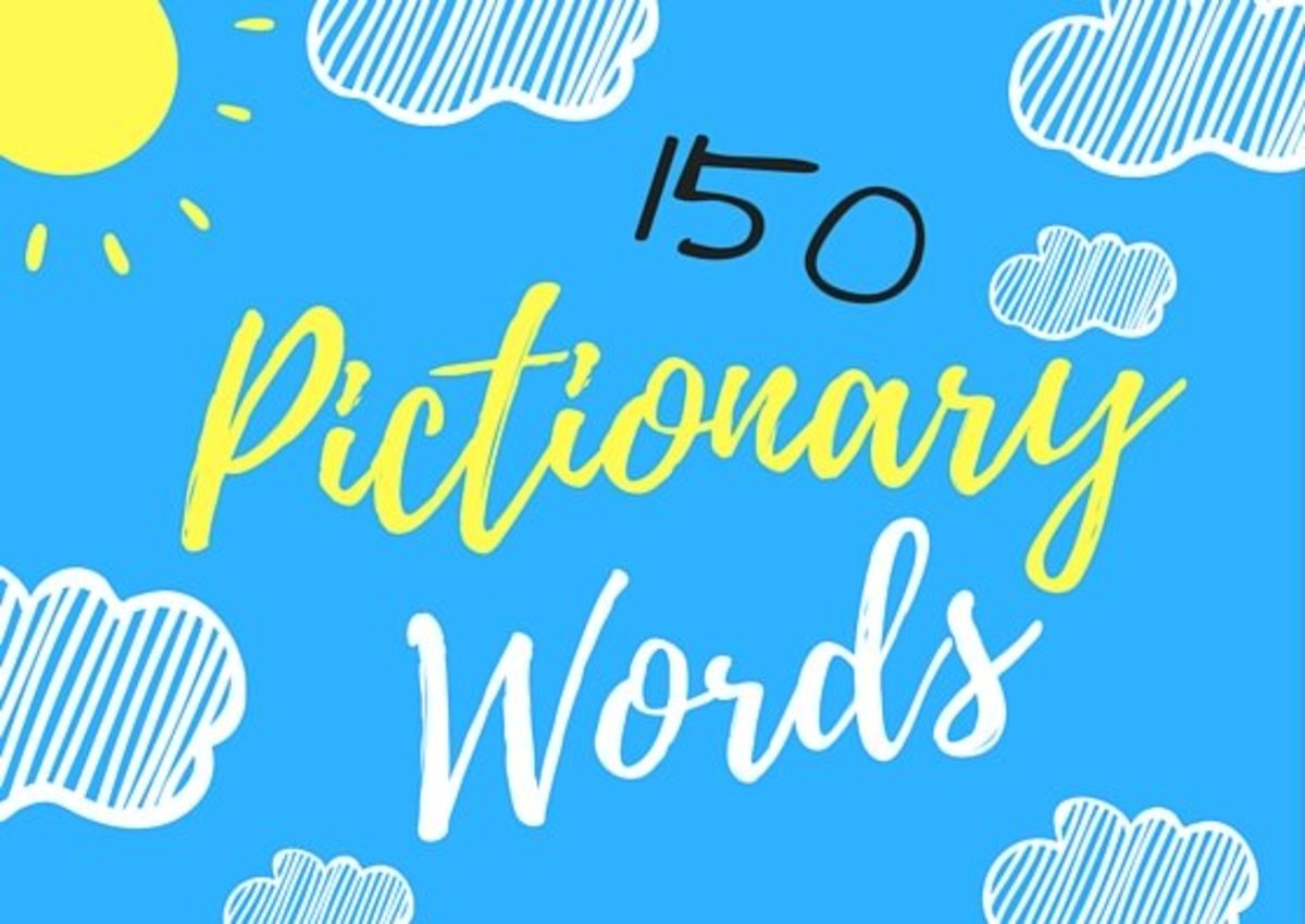 picture regarding Printable Win Lose or Draw Phrases called 150 Exciting Pictionary Terms HobbyLark