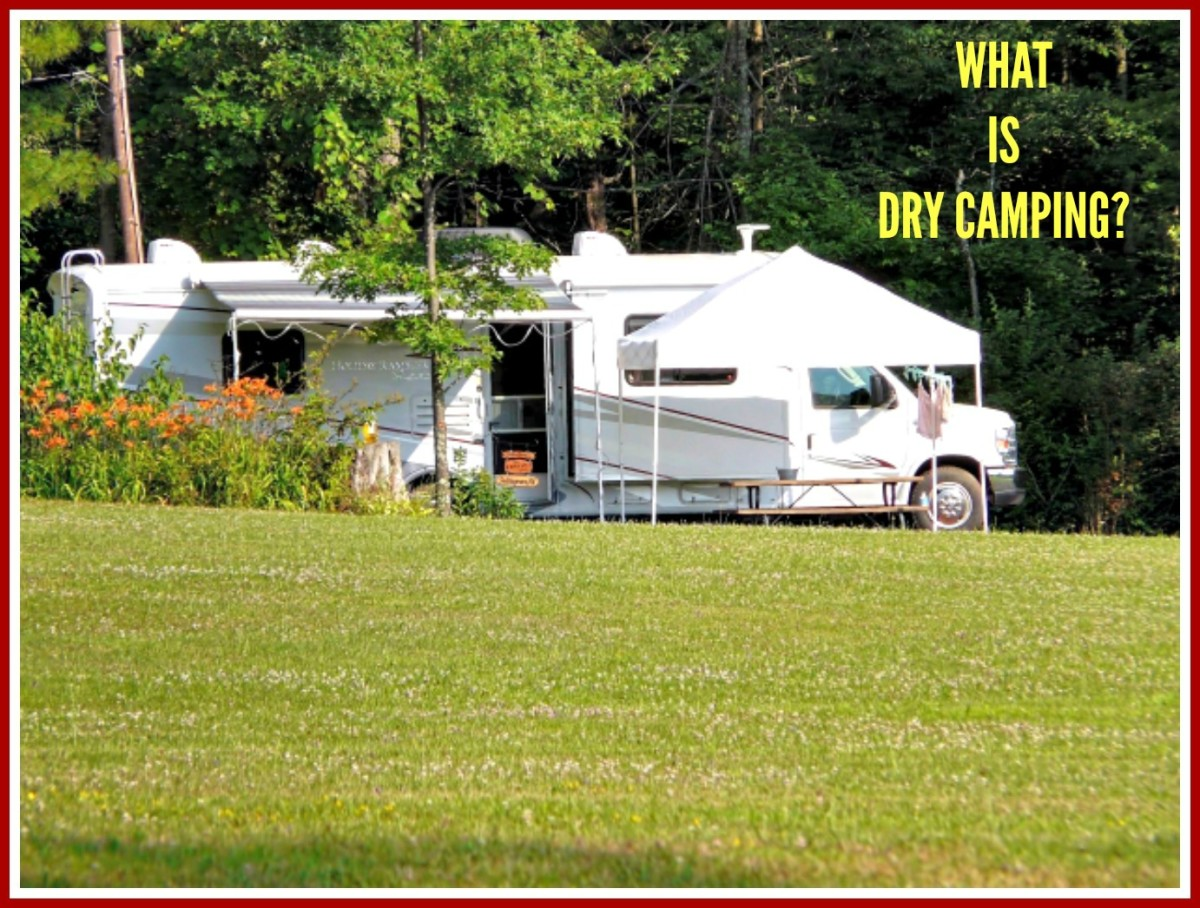 Dry camping is a way of staying in a RV without hooking up to utilities.