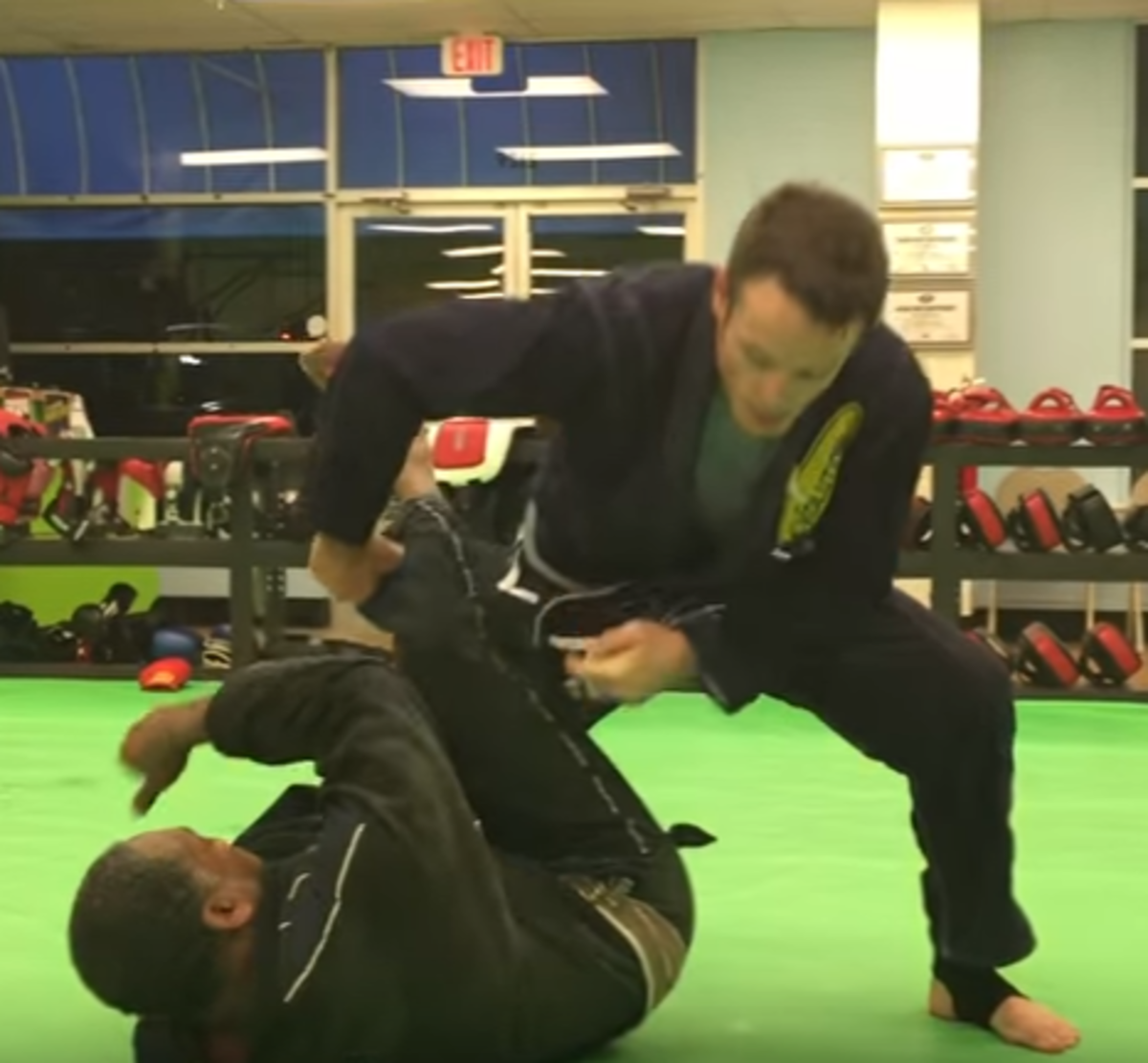Learn how to do a leg drag to back take.
