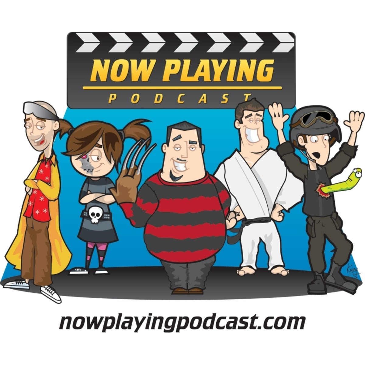 The Now Playing podcast publishes a new movie review every week, and also reviews movie series in total.