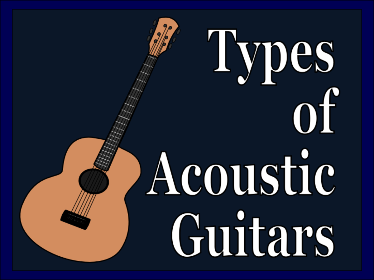There are many sizes of acoustic guitars for many types of players.