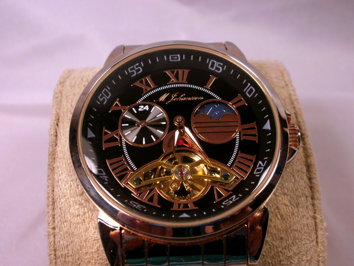 Review of the M Johansson G-MhsenoRgRgB rose gold plated, automatic wristwatch