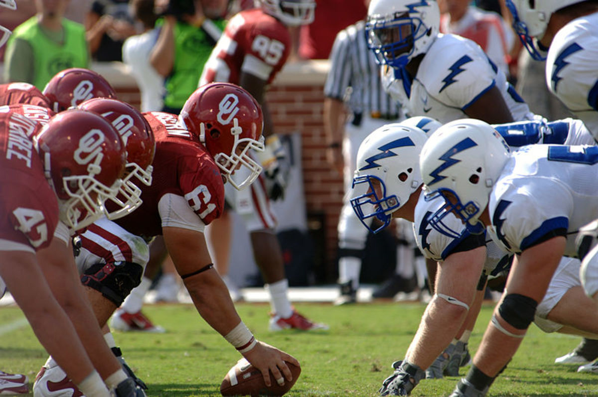 The offensive line wins or loses football games in the trenches.
