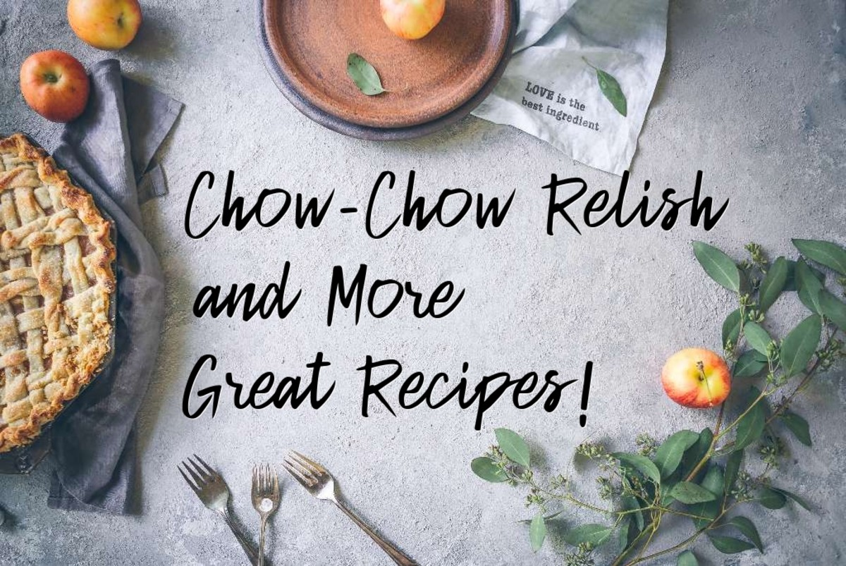 Chow chow relish is a traditional Southern condiment made from pickled vegetables.