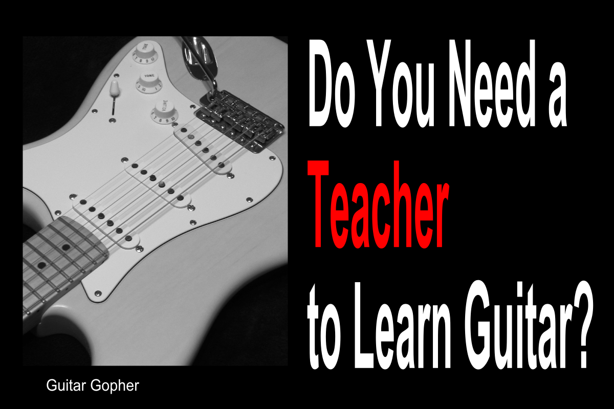 A guitar teacher is a great help when first starting out, but lessons may not be right for some players.
