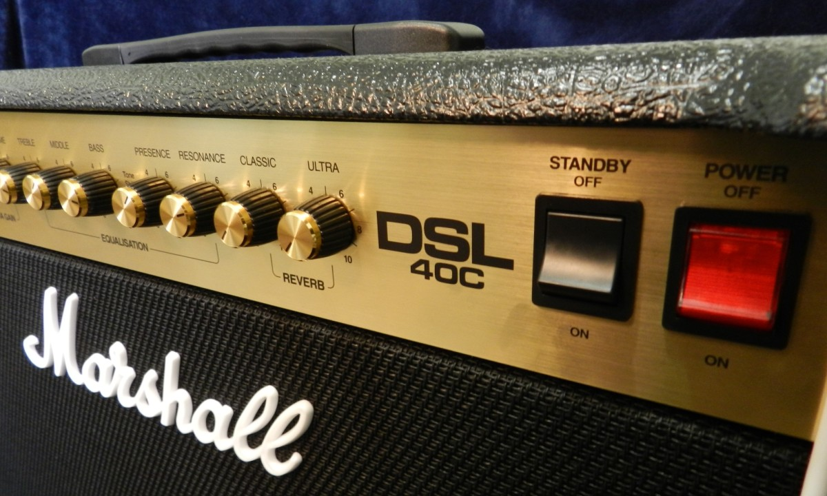 The Marshall DSL40C is versatile 40-watt valve combo amp.