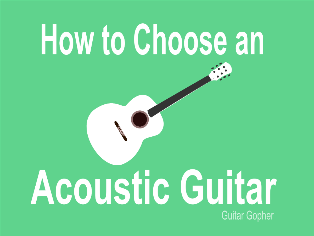 Advice on choosing an acoustic guitar for a beginner.