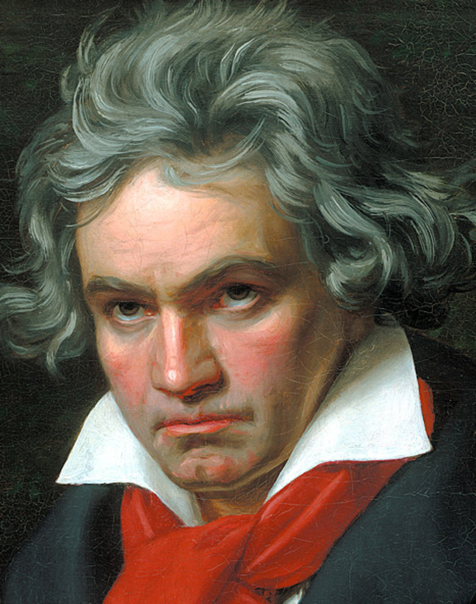 Painting of Beethoven aged fifty by Joseph Karl Stieler in 1820.