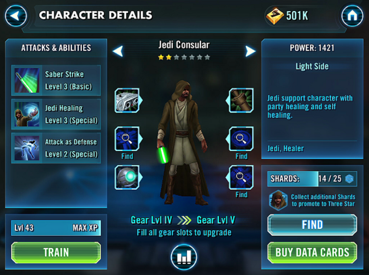 Jedi Consular: my first Jedi. Too bad he sucks.