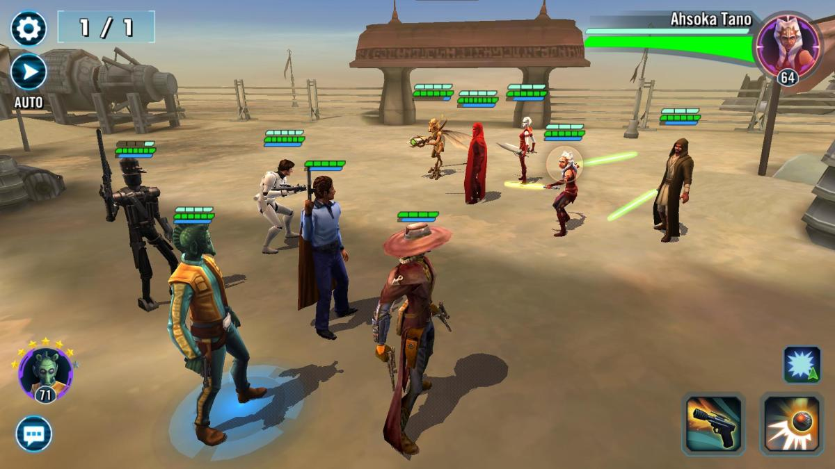 Star Wars Galaxy of Heroes: Credit Heist and Training Droid Smuggling Scoundrels Tips