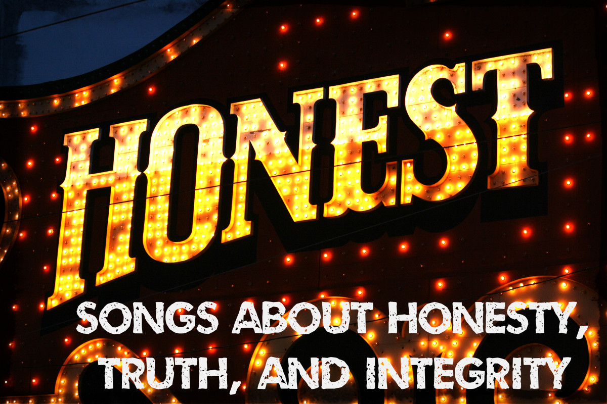 Honesty and integrity may be in short supply, but they're values worth celebrating. Make a playlist about truth and doing the right thing using these pop, rock, and country songs.