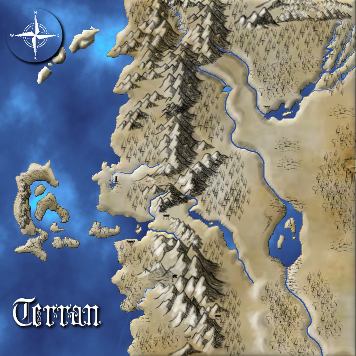 Creating a fantasy map a step by step tutorial hobbylark creating a custom fantasy map gumiabroncs Images