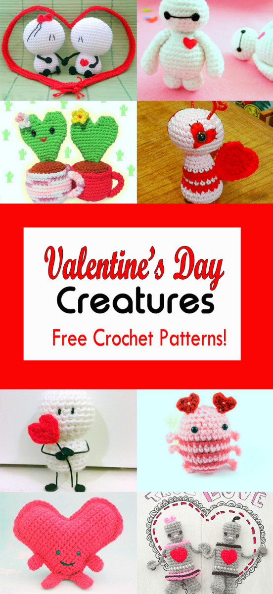 12 Valentine's Day Creatures: Free Crochet Patterns