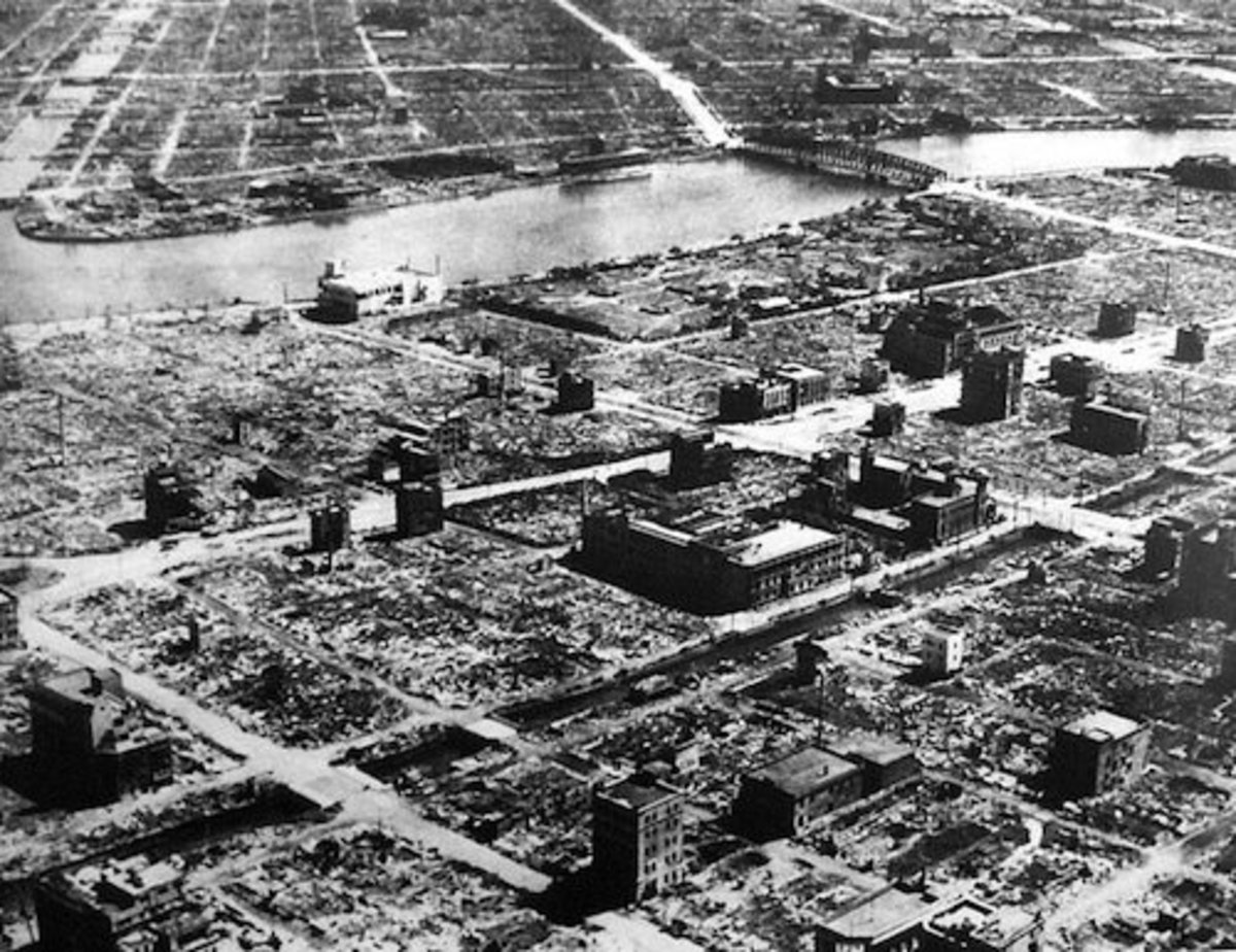 Tokyo after the fire bombing by the Americans.