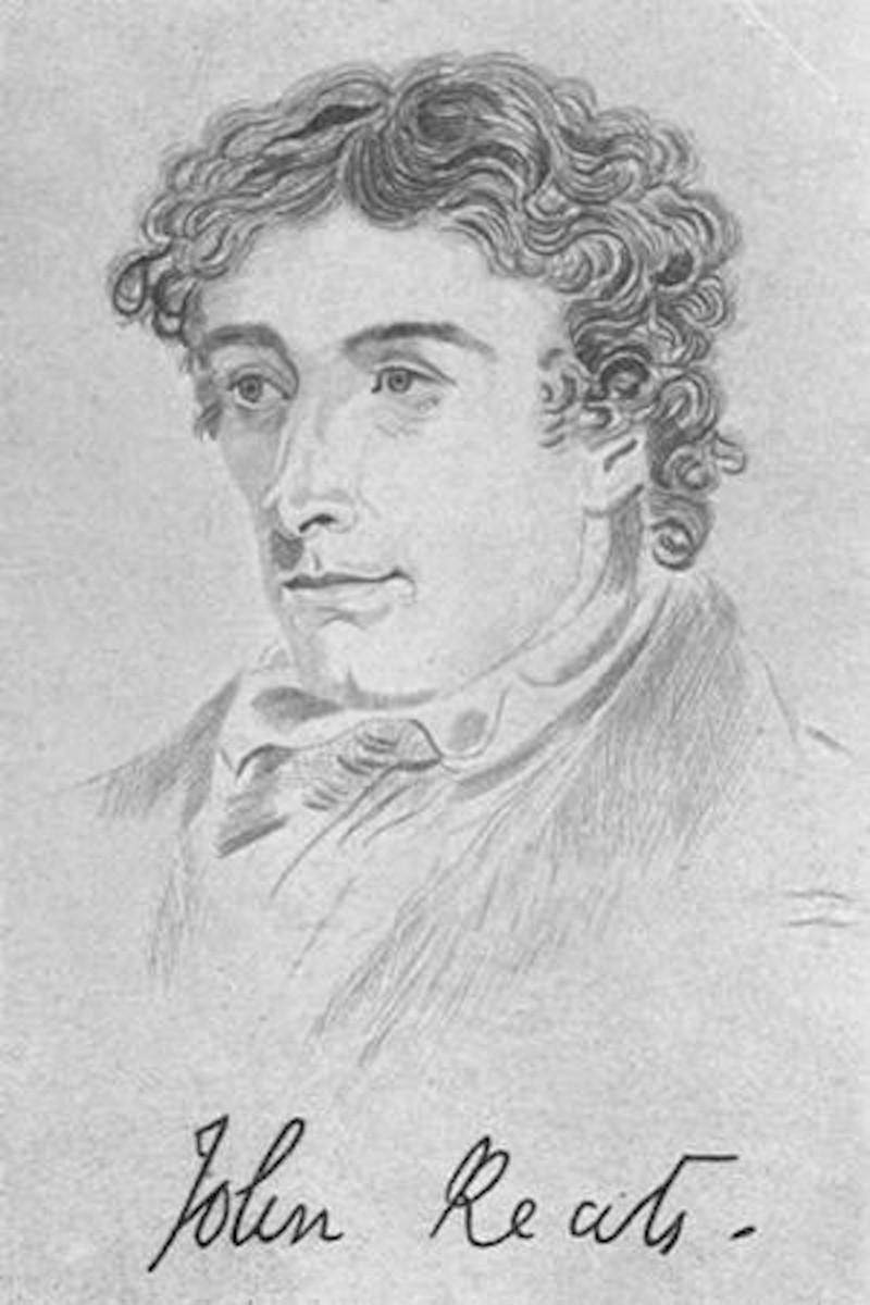 Engraving of John Keats