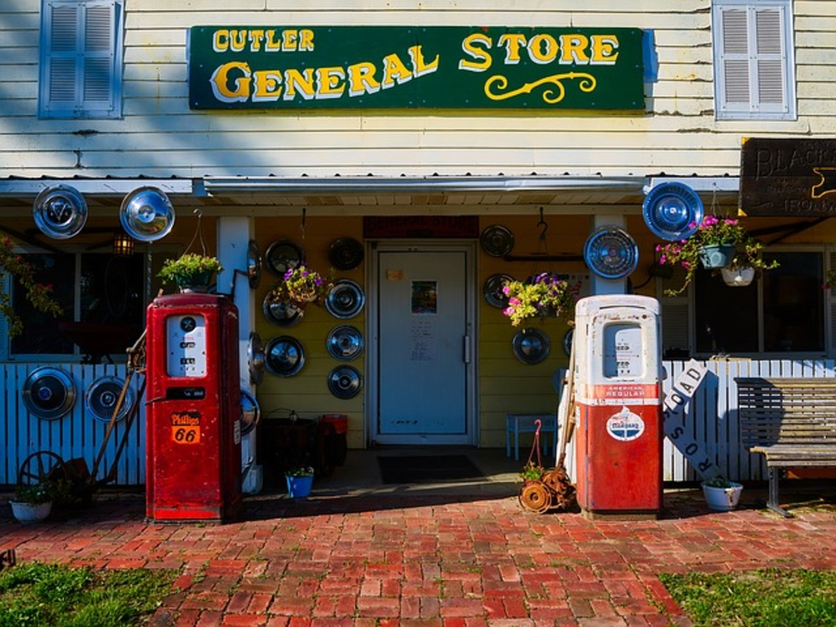 Gas prices are much higher than they were when gas stations looked like this!