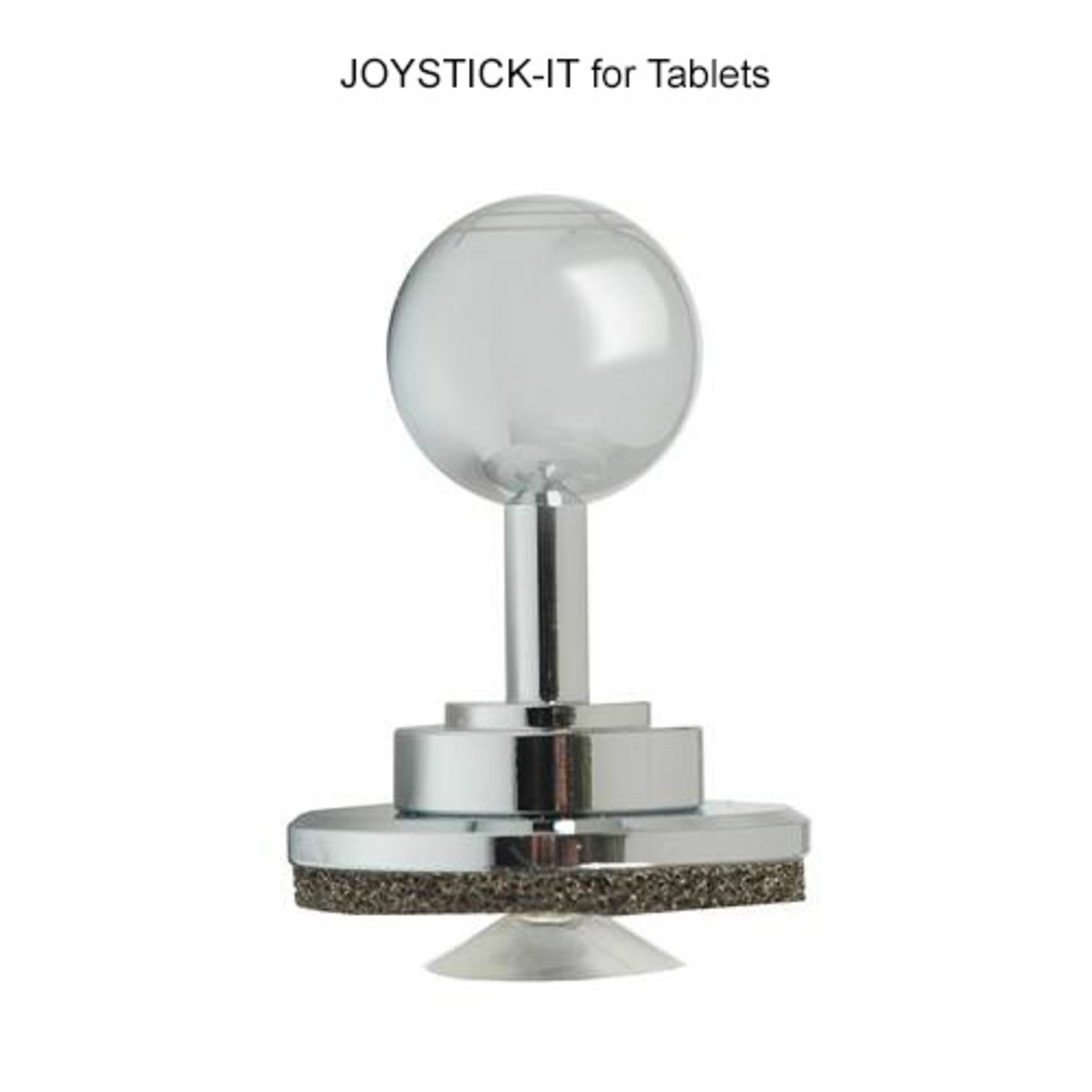 This is what the Joystick-It looks like. It has a suction cup and foam padding at the bottom.