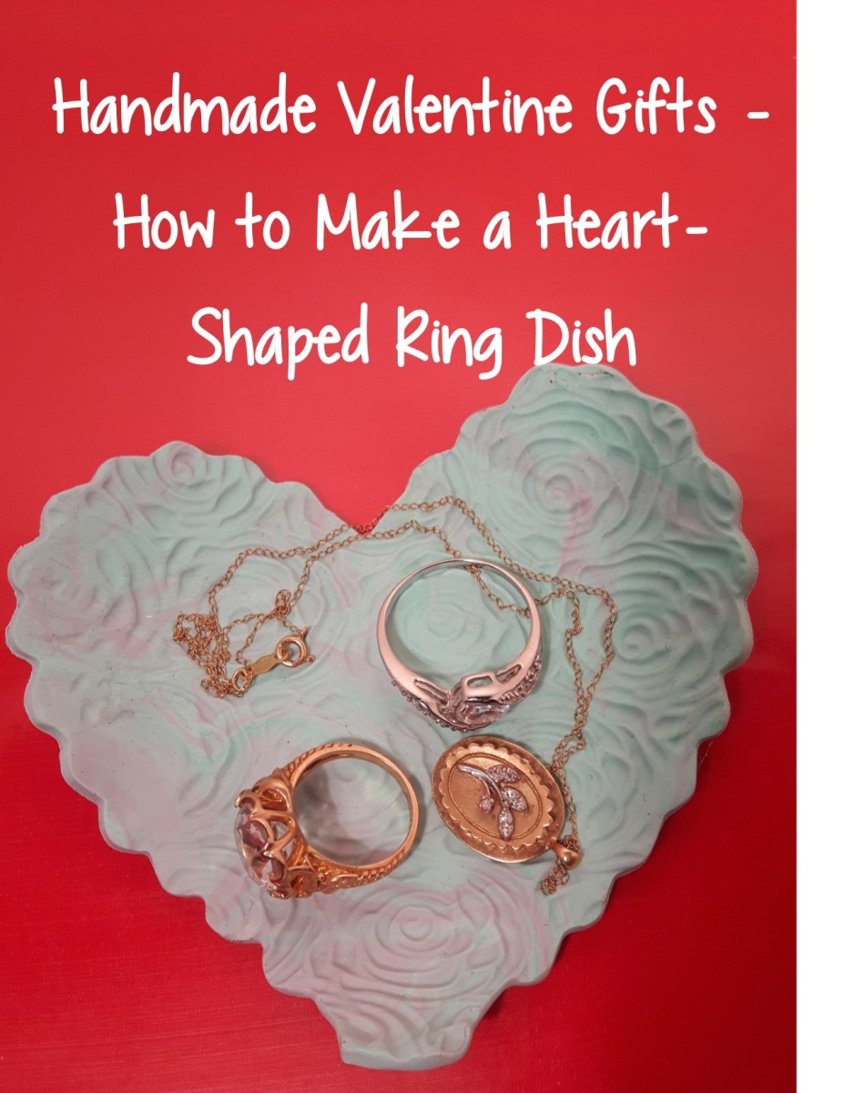 Handmade heart shaped ring dish