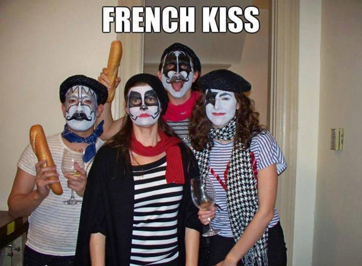 This is a French Kiss pun costume.