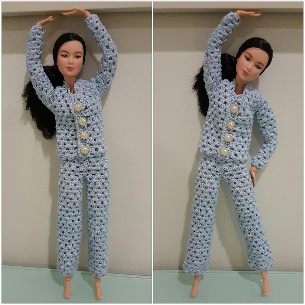 Barbie Pajama Set (Free Crochet Pattern)