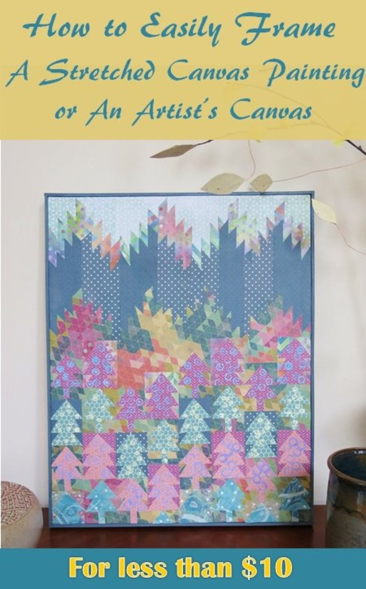 DIY Project: How to Easily Frame a Stretched Canvas Painting or an ...