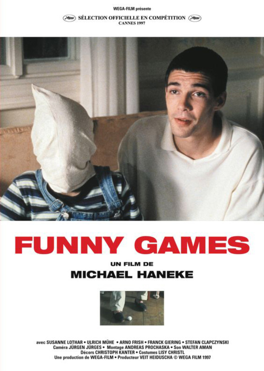 Poster for the original 1997 Austrian version of Funny Games. The American version in 2007 is a shot-for-shot remake.