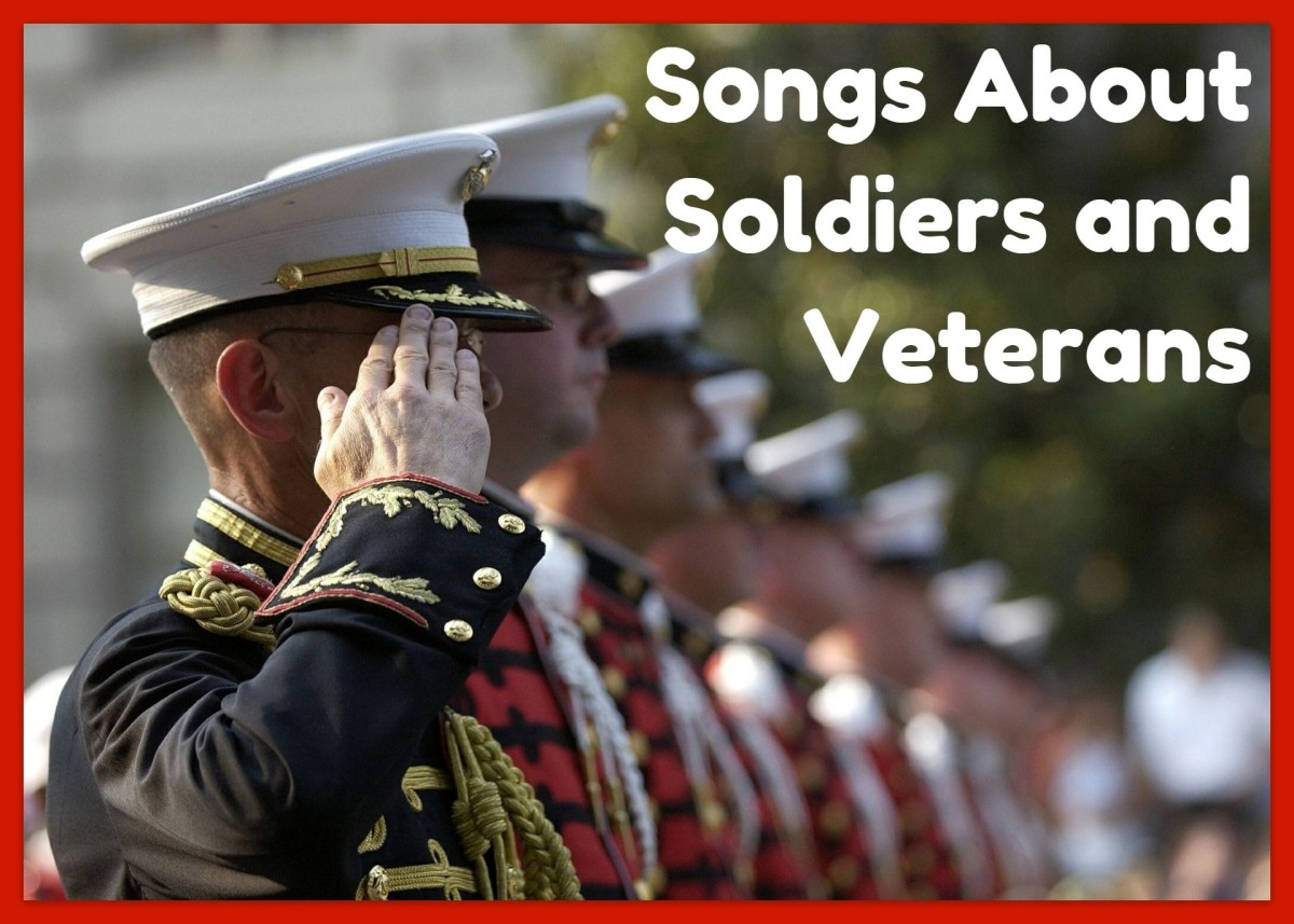Make a playlist about soldiers and veterans to honor those who protect your liberty.  We have a long list of pop, rock, metal, and country songs to get you started.